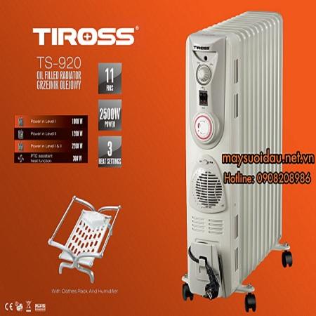 Máy sưởi dầu TIROSS 11 thanh TS920